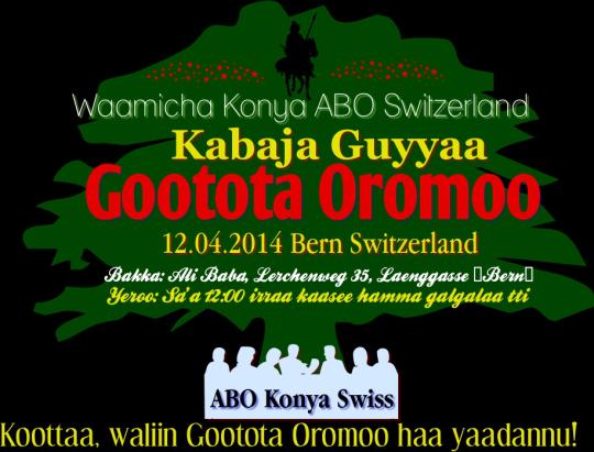 Guyyaa Gootota Oromoo 2014 Swiss